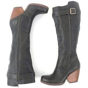 KORKS Knee High Leather Boots Heels 7M NWOT